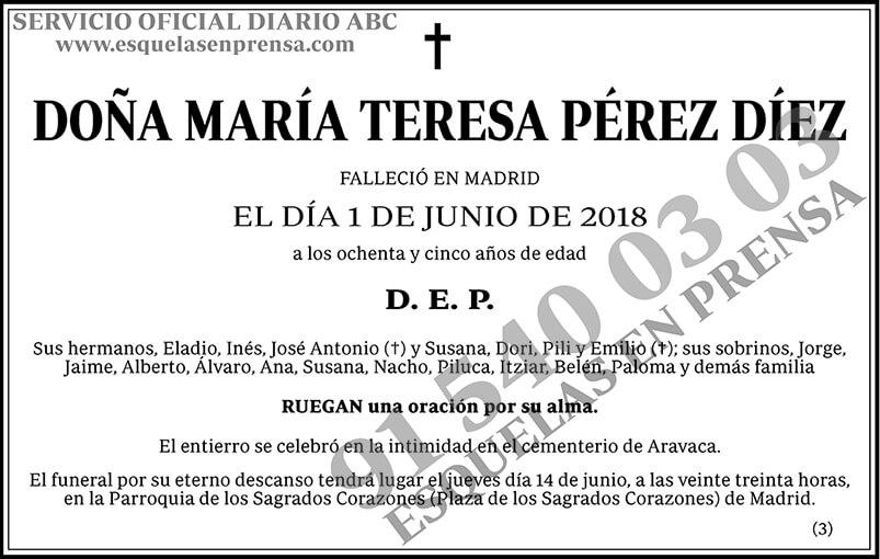 María Teresa Pérez Díez